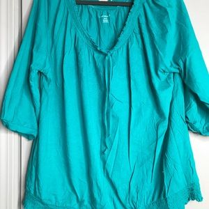 Teal tunic shirt